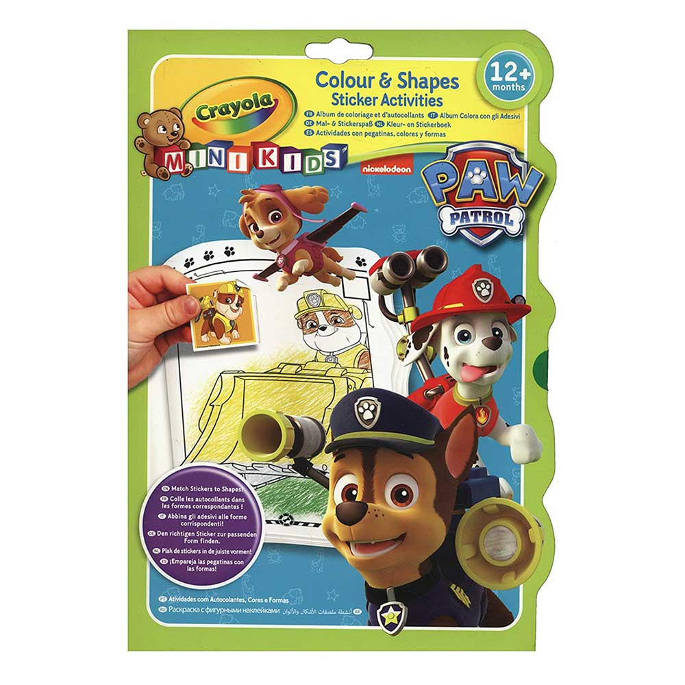 Crayola Paw Patrol Colour & Shapes Activity Book